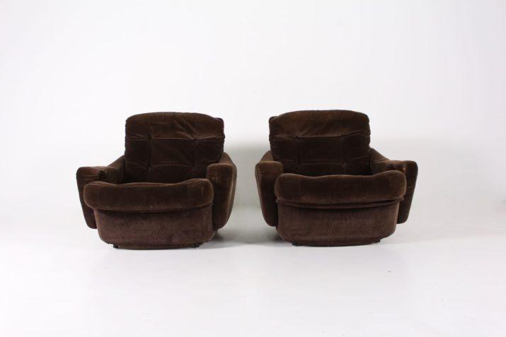 Paire de fauteuils Airborne en velours