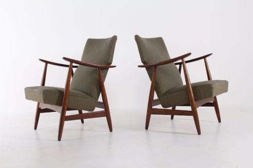 Paire de fauteuils inclinables, 1950's