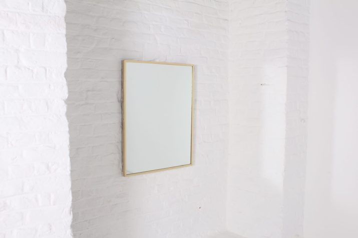Grand miroir bord doré