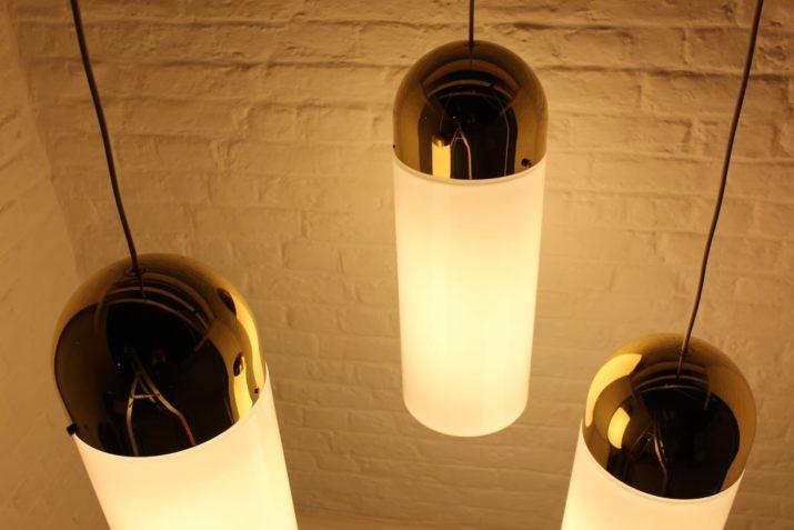 Grandes suspensions laiton & verre Limburg