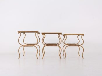 Tables basses gigognes dorées