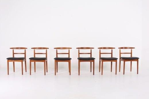 6 chaises danoises Helge Sibast