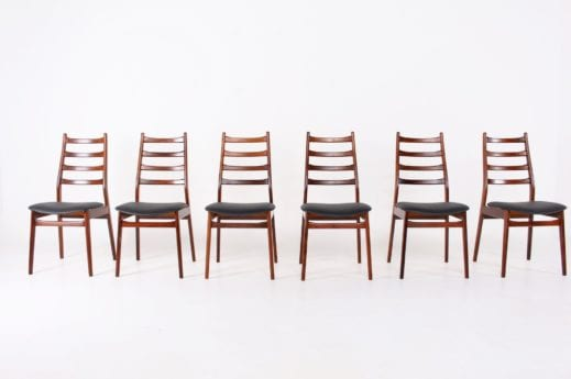 6 chaises scandinaves en palissandre