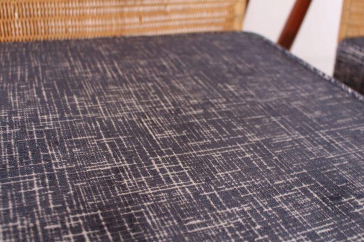 Paire de fauteuils scandinaves teck & rotin