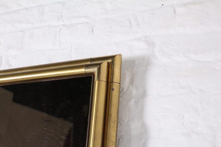 Miroir en laiton Hollywood Regency