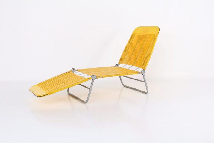 Chaise longue scoubidou 1960s
