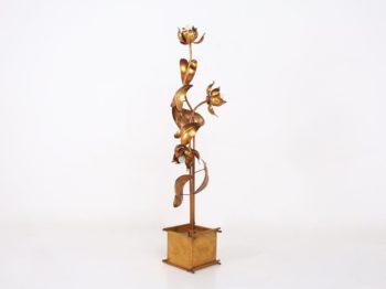 Lampadaire en métal doré Hans Kögl