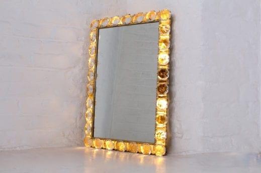 Miroir lumineux Hollywood Regency