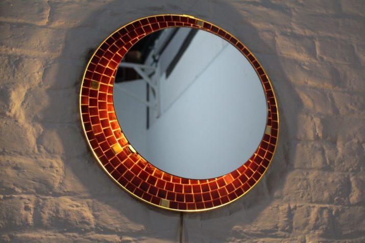 Miroir lumineux en mosaïque
