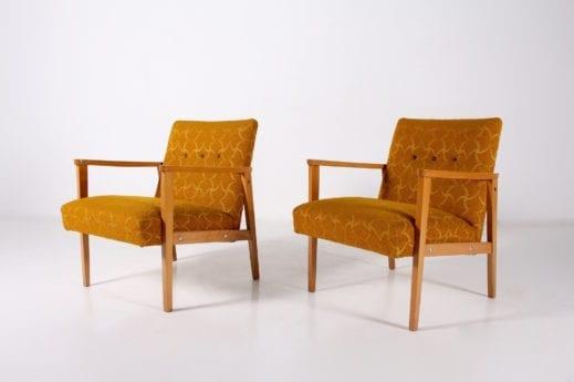 Paire de fauteuils visteur 1960's