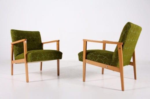 Paire de fauteuils visiteur 1960's