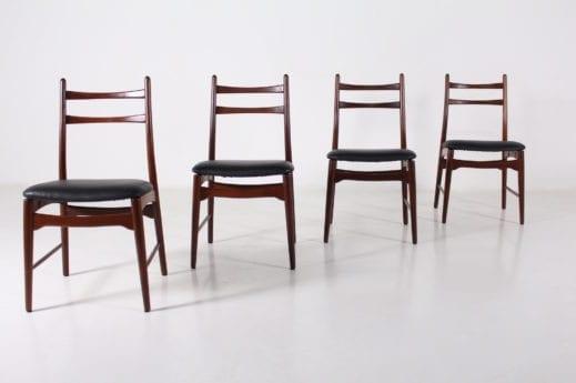 4 chaises en palissandre
