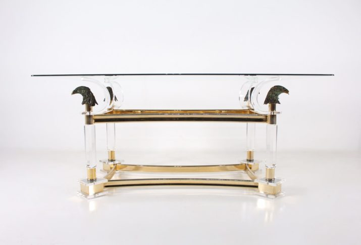 Console Hollywood Regency aux aigles