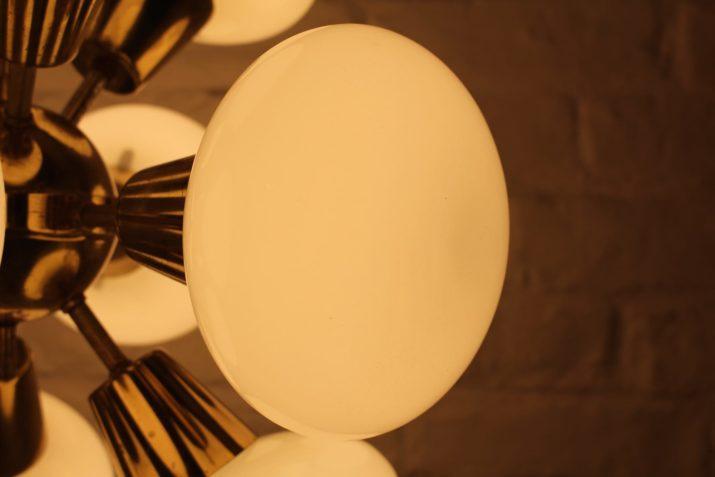 Lustre Sputnik laiton à 12 feux