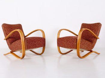 Paire fauteuils Halabala