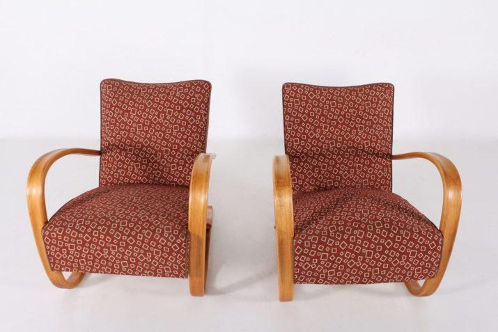 Paire fauteuils Halabala.
