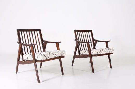 """Paire de fauteuils  """"visiteur"""" modernistes"""