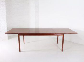 Grande table à allonge Alfred Hendrickx en palissandre