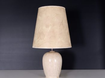 Lampe en travertin, 1970's