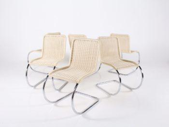 6 chaises Tecta Ludwig Mies Van der Rohe