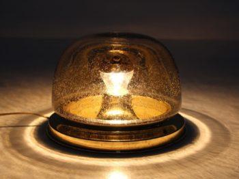 Lampe à poser en verre soufflé