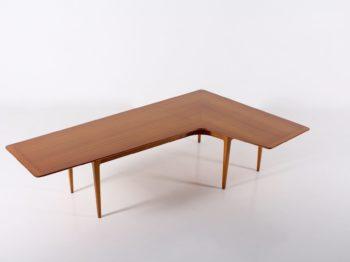 Table basse scandinave Boomerang en palissandre