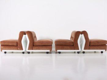 4 fauteuils Amanta, Mario Bellini