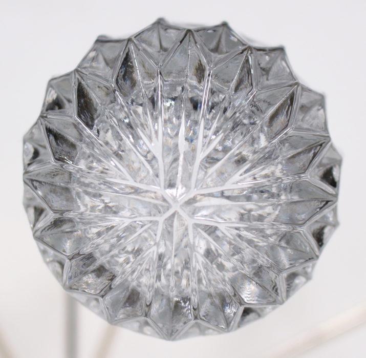 Lustre à 8 feux en gouttes de cristal