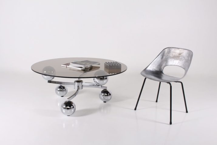 "Table basse ""atomique"" 1970's"
