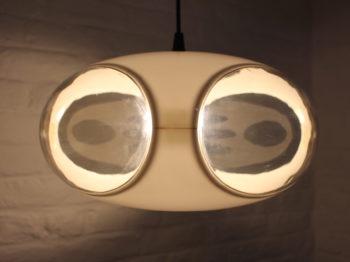 Suspension UFO blanche.