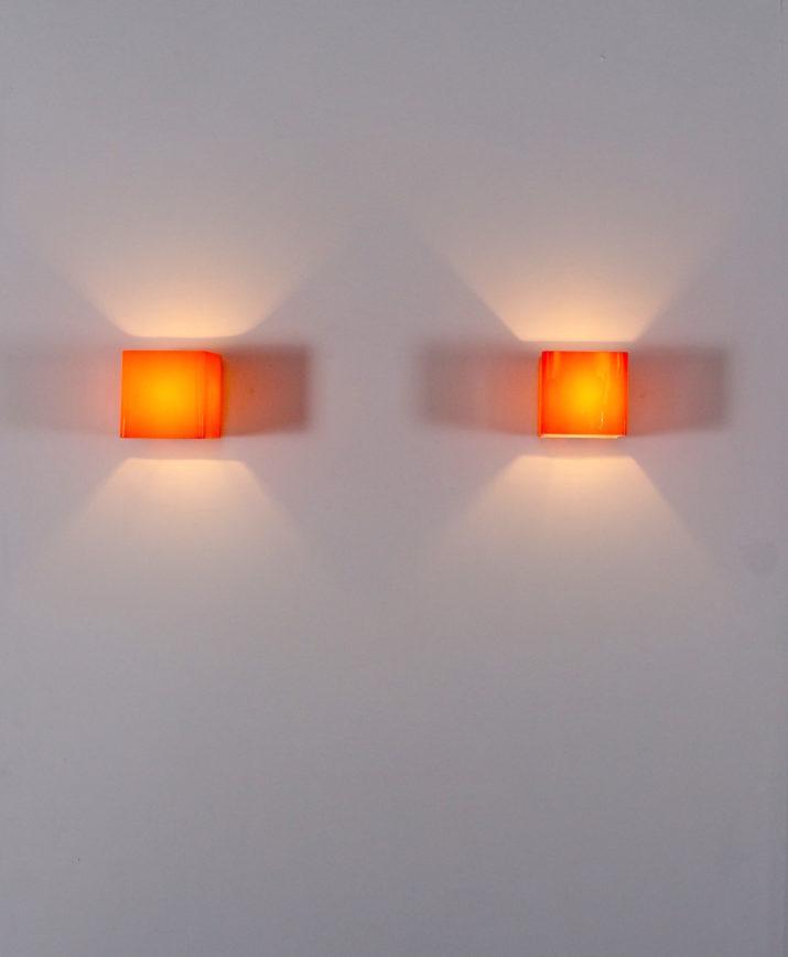 Paire d'appliques en verre de Murano Alessandro Pianon