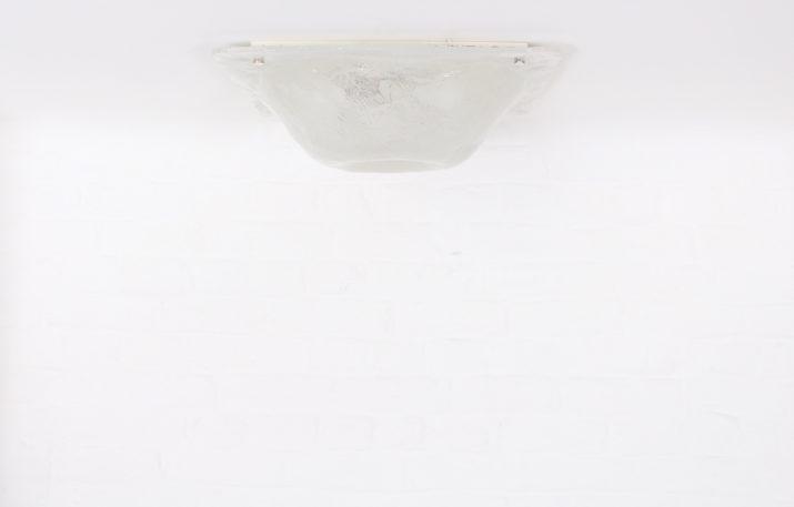 Plafonnier en verre soufflé Müller & Zimmer