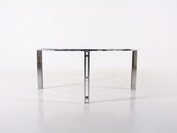Table basse en acier chromé