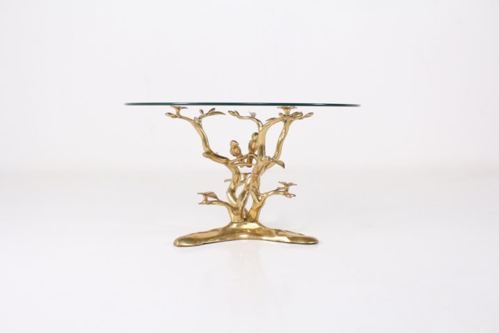 Willy Daro table basse aux oiseaux***OPTION***