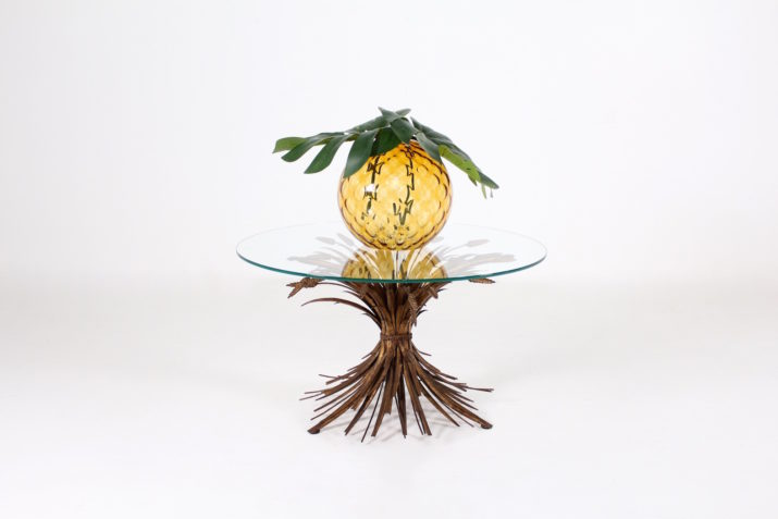 Table basse épis de blé, style Coco Chanel
