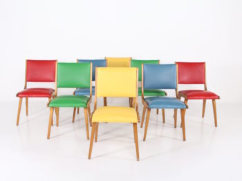 8 chaises style Jens Risom