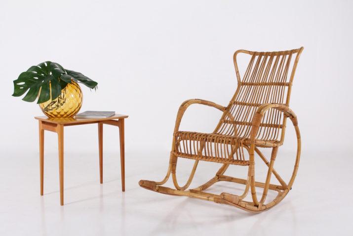 Rocking-chair en bambou
