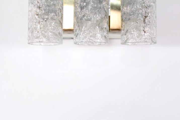 Paire d'appliques tubulaires triples en verre, Doria