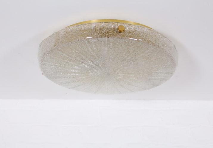 Plafonnier applique verre & laiton