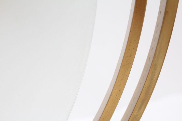 Lustre suspension Bauhaus / moderniste en laiton