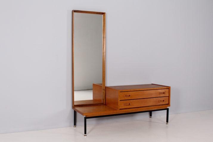 Coiffeuse moderniste / Miroir sur pied