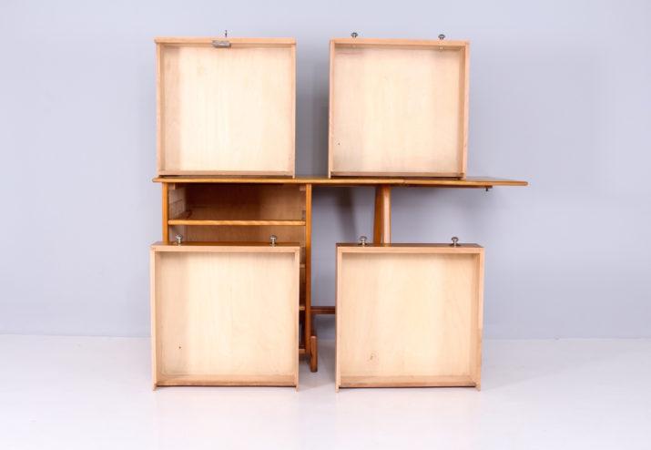 Cabinet de travail pieds compas 1950's