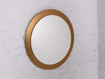 Miroir rond biseauté style Fontana Arte