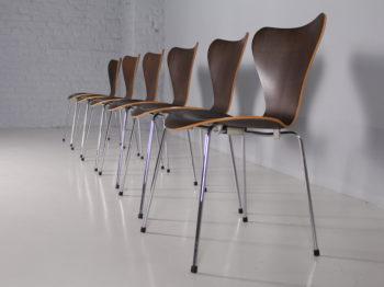 6 chaises '3107' Arne Jacobsen & Fritz Hansen