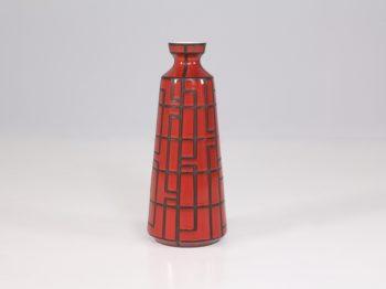 Vase en céramique rouge