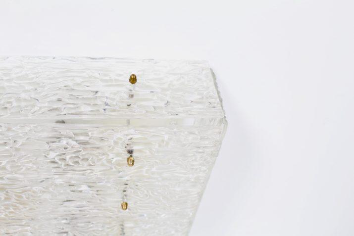Grand plafonnier moderniste en verre Kalmar