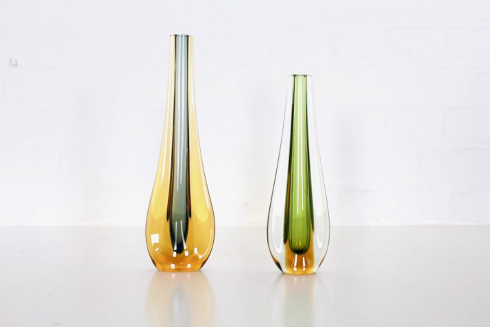 Flavio Poli & Seguso, paire de vases